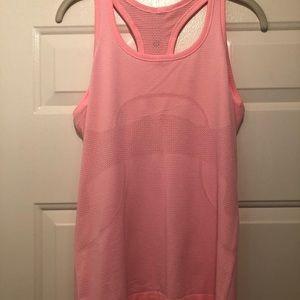 Lululemon pink swiftly tank size 8